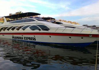 0812 9393 9797, BERLAYAR KE PULAU SERIBU  KM. pramuka express